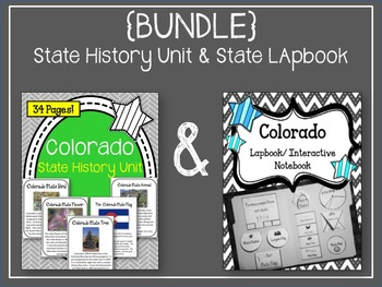 {BUNDLE} Colorado State History Unit and State Lapbook. Interactive Notebook
