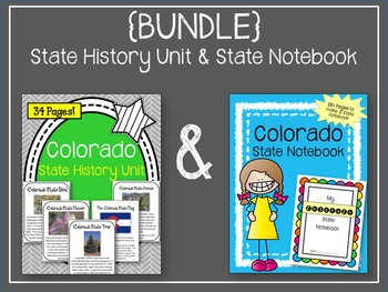 {BUNDLE} Colorado State History Unit and State Notebook