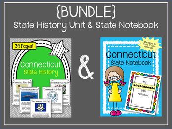 {BUNDLE} Connecticut State Notebook & Connecticut State History Unit. Symbols
