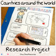Research Project and Matching Games - Countries Around the World BUNDLE