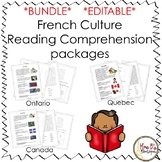 French Culture Reading Packages - Ontario, Quebec and Canada *EDITABLE*