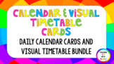 **BUNDLE** 50+ Daily Visual Timetable AND Calendar Cards (