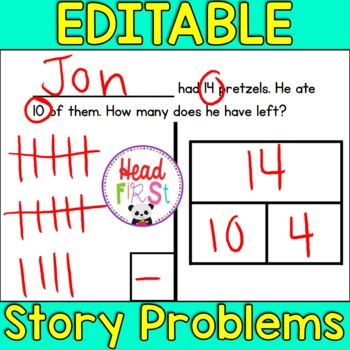 *BUNDLE* Editable Story Word Problems - Add your students' names!