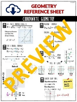 (BUNDLE) FULL YEAR GEOMETRY Review Packet & Reference/Formula Packet