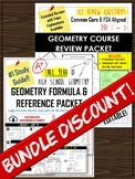 (BUNDLE) FULL YEAR GEOMETRY Review Packet & Reference/Form