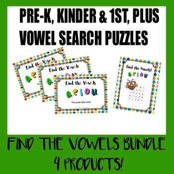 *BUNDLE* Find the Vowels! worksheets
