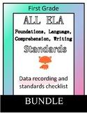 First Grade ELA Reading & Writing Standards Checklist & As