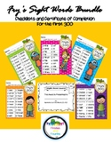 ***BUNDLE*** Fry's First 100 200 300 Sight Words Checklist