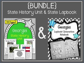 {BUNDLE} Georgia State Lapbook & Georgia State History Unit
