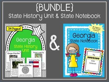 {BUNDLE} Georgia State Notebook & Georgia State History Unit