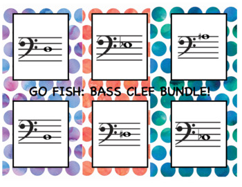 **BUNDLE** Go Fish: Bass Clef Note ID Lvl 1-3