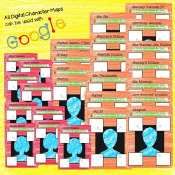 *BUNDLE* Google 52 Character Maps for Holes by Louis Sachar Digital & Printable