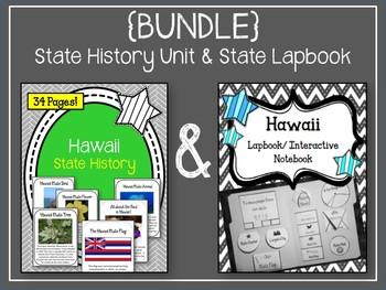 {BUNDLE} Hawaii State Lapbook & Hawaii State History Unit