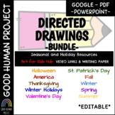 *BUNDLE* Holidays-Seasons-Directed Drawings, Links & Writing paper | EDITABLE