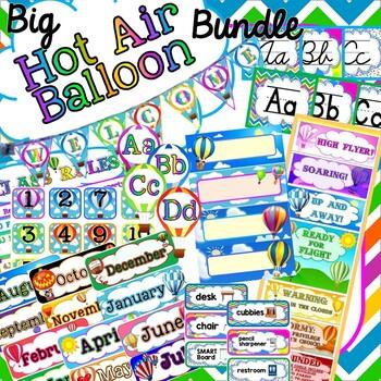 *BUNDLE* - Hot Air Balloon Themed Classroom Decor