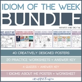 [BUNDLE] Idiom of the Week/Day - Posters, Daily Tasks, Wor