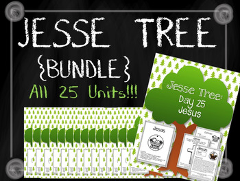 {BUNDLE} Jesse Tree Bundle! All 25 Units! Christmas Advent