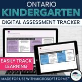 Microsoft Forms *Full-Year* Kindergarten Four Frames Digital Assessment Tracker