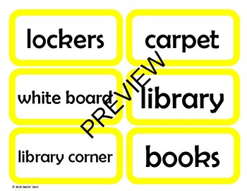 **BUNDLE** Labels for the English / ESL Classroom