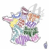 *BUNDLE La Francophonie: Colorful Map Set of Francophone Countries