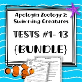 {BUNDLE} Lessons 1-13 TESTS. Apologia Zoology 2. Swimming Creatures