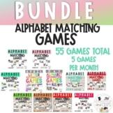 *BUNDLE* Alphabet letter recognition matching games- 31 games!