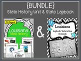 {BUNDLE} Louisiana State Lapbook and State History Unit. Interactive Notebook
