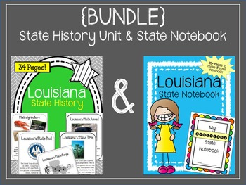 {BUNDLE} Louisiana State Notebook and State History Unit