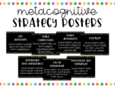 *BUNDLE* Metacognitive & Comprehension Strategy Posters - Simple Bright Dots