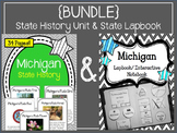 {BUNDLE} Michigan History Unit and State Lapbook. Interactive Notebook.