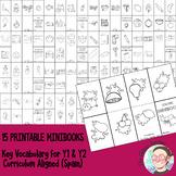 [BUNDLE] Minibooks for Y1 & Y2 Spanish Curriculum Aligned
