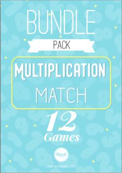 *BUNDLE* Multiplication Fact Match: 1's-12's