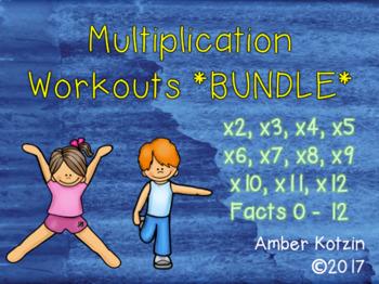 **BUNDLE** Multiplication Workouts 2-12