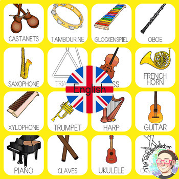 [BUNDLE] Musical Instruments Posters in 3 languages