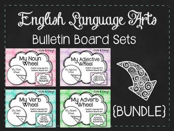{BUNDLE} My Wheel Bulletin Board Sets. Noun. Verb. Adjective. Adverb