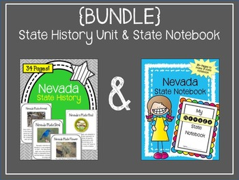 {BUNDLE} Nevada State History Unit and State Notebook.  US State History