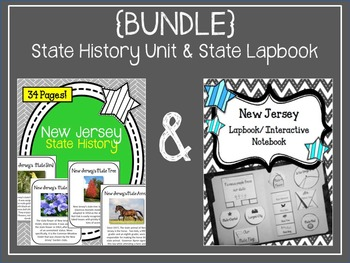 {BUNDLE} New Jersey State Lapbook and State History Unit