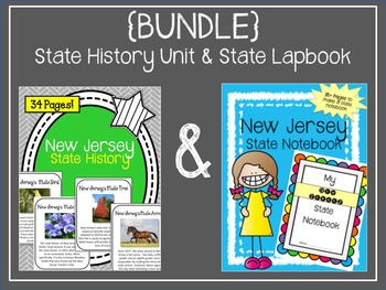 {BUNDLE} New Jersey State Notebook and State History Unit