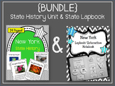 {BUNDLE} New York State History Unit and Lapbook. Interactive Notebook