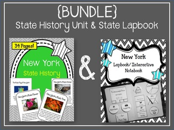 {BUNDLE} New York State History Unit and Lapbook. Interact
