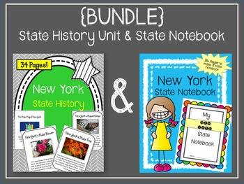 {BUNDLE} New York State History Unit and State Notebook. US History