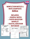 **BUNDLE** Nonfiction Notice & Note Signposts Materials