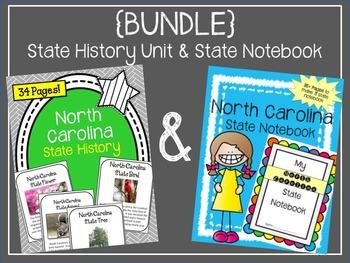 {BUNDLE} North Carolina State Notebook and State History Unit. US History
