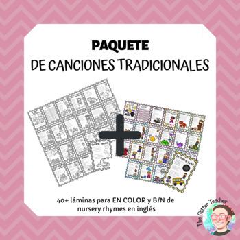 [BUNDLE] Nursery Rhymes worksheets and posters