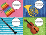 *BUNDLE OF 4!* Instrument Family Word Puzzles