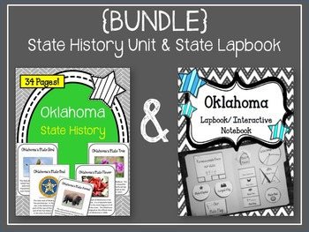 {BUNDLE} Oklahoma State History Unit and Lapbook Bundle. Interactive Notebook