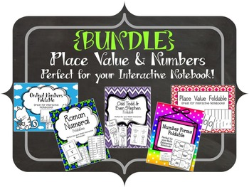 {BUNDLE} Place Value and Numbers Foldables. Interactive Notebooks