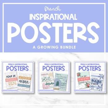 *BUNDLE* Printable French Growth Mindset Posters - VOLUME I, II, III & IV
