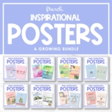 French Growth Mindset & Inspirational Posters - A GROWING BUNDLE