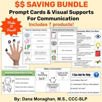 **BUNDLE** Prompt Cards & Visual Supports Value Bundle